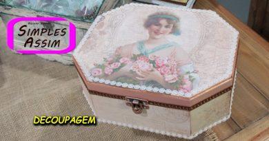 Arte e cia - decoupagem tinta rose gold