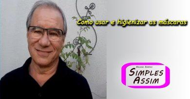 Manzélio Cavazzana Jr - higienizar as máscaras