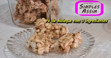 Pé de Moleque com 3 ingredientes